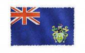 Bandeira da ilha de Pitcairn, no antigo fundo de parede, papel de parede vetor, textura, banner, ilustração
