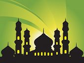 abstract background with silhouette of mosques, Islamic Series