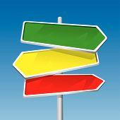Poste indicador (Vector)