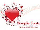 red valentine banner, vector illustration