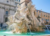 Fountain of the Four Rivers. Piazza Navona, Rome. Italy poster
