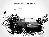 ilustração em vetor abstrato grunge carro