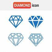 Diamond Icons Set. Diamond Sign Set poster