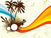abstrato base de listras coloridas com palm grungy, ponta de seta
