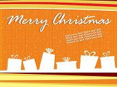 abstract orange background with shape of gift box