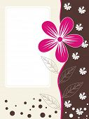 picture of flower girl  - abstract halftone pattern card with pink flower - JPG