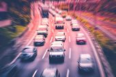 Highway Traffic Jam Concept , Cars On Highway poster