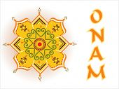 onam background with creative pattern rangoli