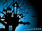 abstract scary halloween background, vector illustration