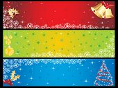 stylish pattern merry xmas banner, vector illustration