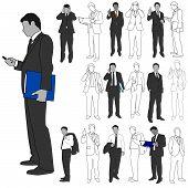 Business Men Group Set