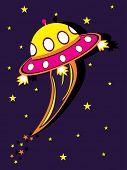 paarse twinkle star achtergrond met stripboek vreemdeling