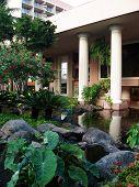 Tropical Gardens And Koi Pond