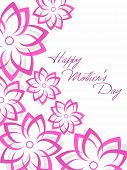 beautiful pattern greeting card for mother's day celebration