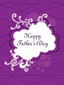 abstract purple background with beautiful floral decorated frame, illustration