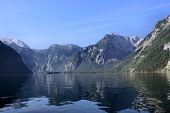 On a mountain lake