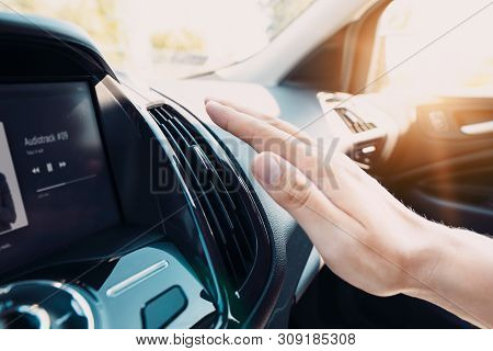 poster of Hand Checking The Air Conditioner In The Car