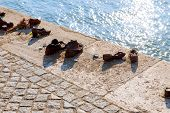 Shoes On The Danube, A Monument To Jews In The Second World War Monument Jewish Memorial Budapest Hu poster