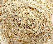 Close-up of straw nest. Background or texture