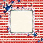 Usa Square Background