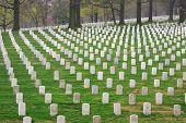 Cementerio Nacional de Arlington al atardecer