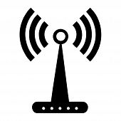 Wifi Signal Tower Icon Isolated On White Background. Wifi Signal Tower Icon In Trendy Design Style.  poster