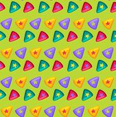 Colorful Triangle With Star Inside Flat Pattern poster