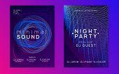 Trance Event. Minimal Concert Brochure Set. Dynamic Fluid Shape And Line. Neon Trance Event Flyer. T poster