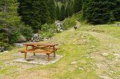 Picnic Table In The Italian Alps