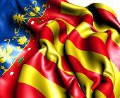 Bandera de la Comunidad Valenciana, España.