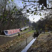stock photo of jericho  - The Oxford Canal at Jericho in Oxford City - JPG