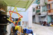 Homemade Star Hanging In Tai O Village, Hong Kong