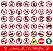 No Set Symbol.prohibition Set Symbol. Icon Set. poster