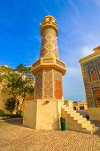 Historic Minaret In Katara. Katara Is A Cultural Village Also Named Valley Of Cultures In Doha, West poster