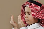 Arabic Kid praying Doa