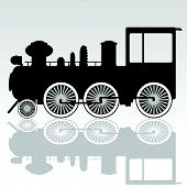 Old Locomotive Vector Illustration