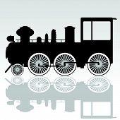 Alte Lokomotive Vektor-Illustration