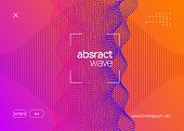 Techno Event. Wavy Show Banner Layout. Dynamic Fluid Shape And Line. Neon Techno Event Flyer. Electr poster