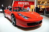 GENEVA - MARCH 12: Ferrari Berlinetta on display at 82nd Geneva Motor Show on March 12, 2012 in Geneva, Switzerland.