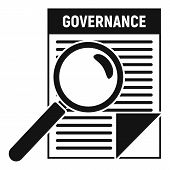 Governance Paper Icon. Simple Illustration Of Governance Paper Vector Icon For Web Design Isolated O poster