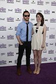 SANTA MONICA, CA - FEB 25: Joslyn Jensen; Mark Jackson at the 2012 Film Independent Spirit Awards on