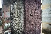 Apsara Dancers Carved On Column  Angkor Wat