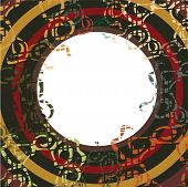 Frame With Circles And Abstract Elements