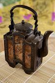 Rustic antique Asian teapot