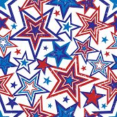 Patriotic Stars Illustration