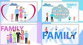 Family, Big Happy Family, Family Tree. Vector Illustration poster