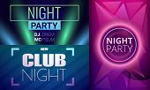 Nightclub Banner Set. Cartoon Illustration Of Nightclub Vector Banner Set For Web Design poster