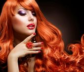 stock photo of red hair  - Red Hair - JPG