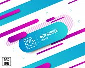 Mail Newsletter Line Icon. Read Message Correspondence Sign. E-mail Symbol. Diagonal Abstract Banner poster