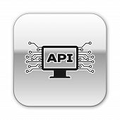 Black Computer Api Interface Icon Isolated On White Background. Application Programming Interface Ap poster